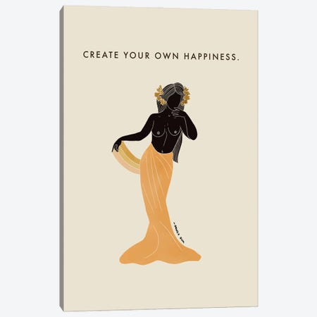 Create Your Own Happiness Canvas Print #DGM19} by Danica Gim Canvas Art