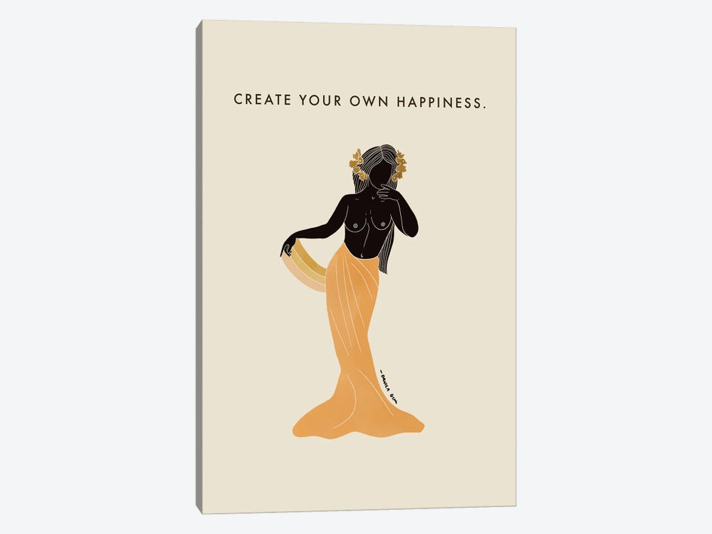 Create Your Own Happiness by Danica Gim 1-piece Canvas Wall Art