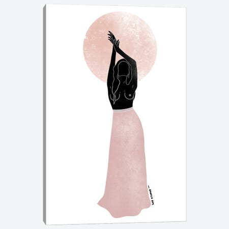 Reaching For The Moon Canvas Print #DGM1} by Danica Gim Canvas Wall Art