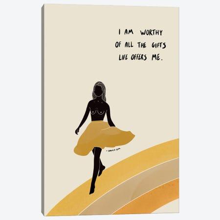 I Am Worthy Canvas Print #DGM20} by Danica Gim Canvas Print