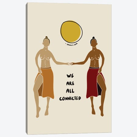 We Are All Connected Canvas Print #DGM22} by Danica Gim Canvas Art Print