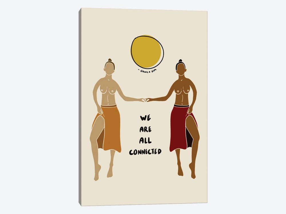 We Are All Connected by Danica Gim 1-piece Canvas Art