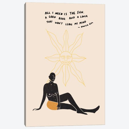 Sun Lover Canvas Print #DGM6} by Danica Gim Art Print