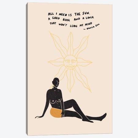 Sun Lover Canvas Print #DGM6} by Danica Gim Art Print