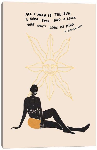 Sun Lover Canvas Art Print