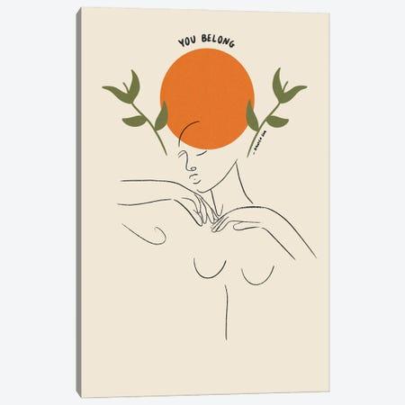 You Belong Canvas Print #DGM9} by Danica Gim Canvas Art