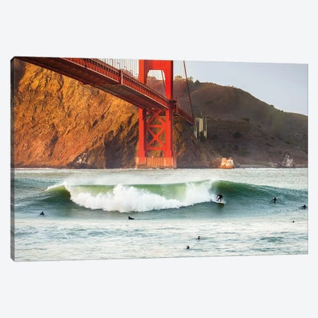 Golden Surf Canvas Print #DGO14} by Dave Gordon Canvas Print
