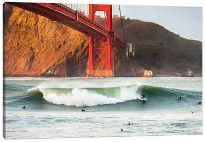 Golden Surf Canvas Art Print