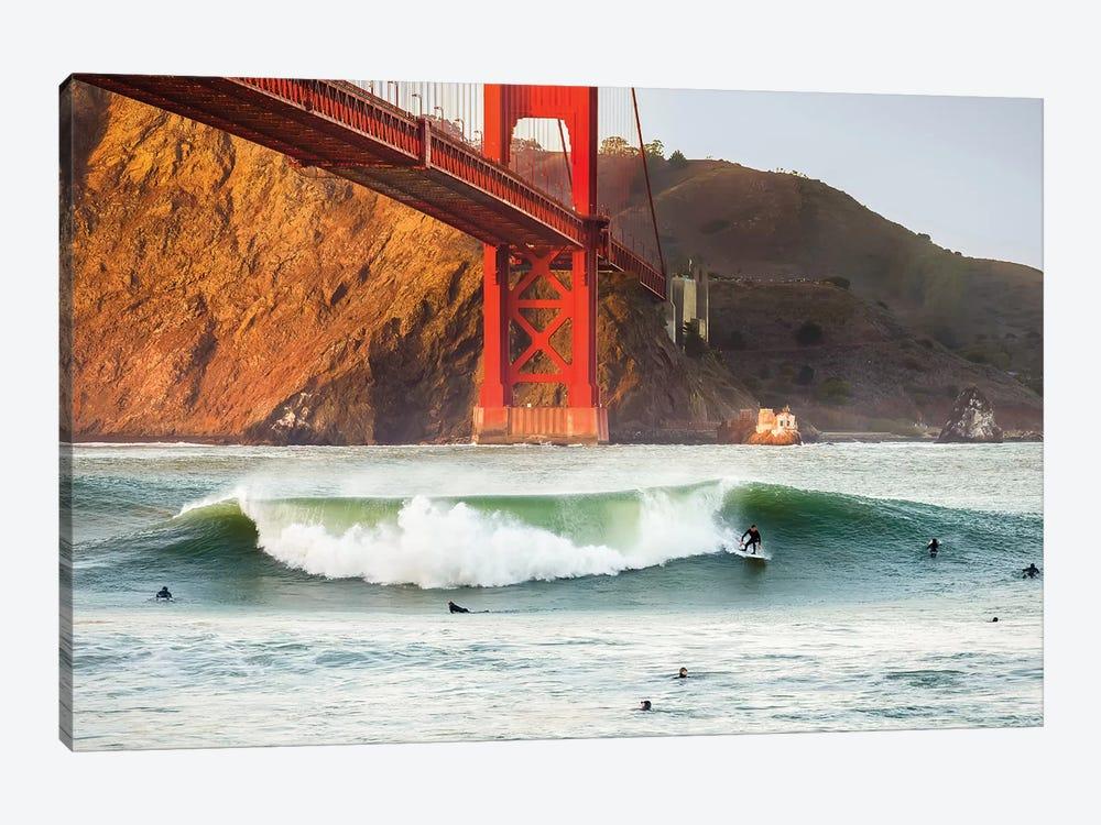 Golden Surf by Dave Gordon 1-piece Canvas Artwork