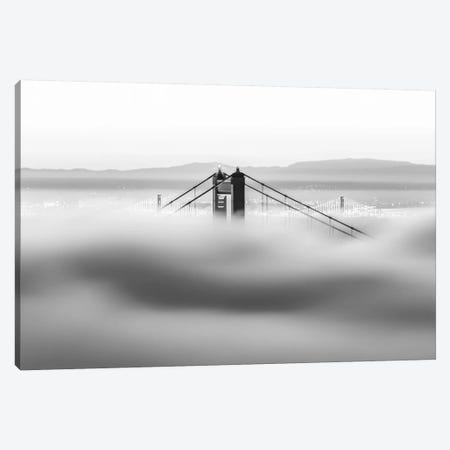 Across The Bay Canvas Print #DGO1} by Dave Gordon Canvas Wall Art