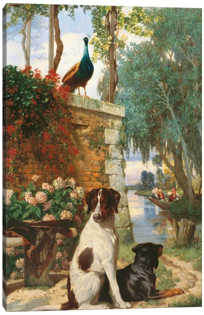 Panneau Décoratif Aux Chien Et Canvas Art Print