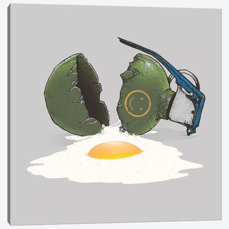 Eggsplosion Canvas Print #DGT11} by Digital Carbine Canvas Art Print