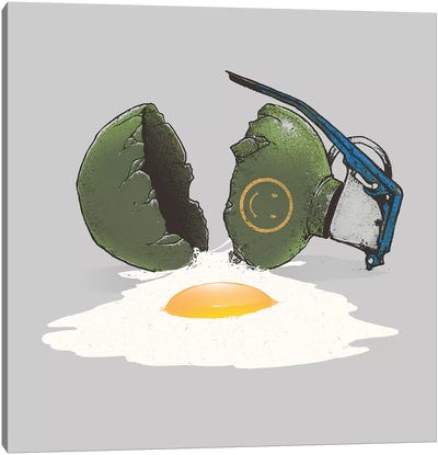 Eggsplosion Canvas Art Print