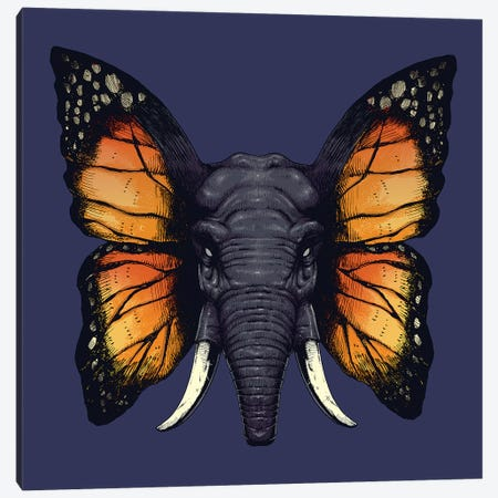 Elefly Canvas Print #DGT12} by Digital Carbine Canvas Print