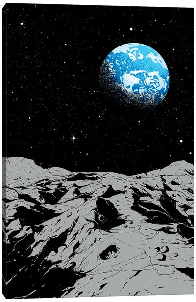 From The Moon Canvas Art Print