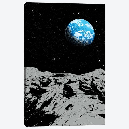 From The Moon Canvas Print #DGT15} by Digital Carbine Canvas Art