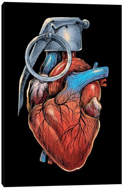 Heart Grenade Canvas Art Print