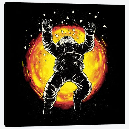 Lost In The Space Canvas Print #DGT28} by Digital Carbine Canvas Artwork
