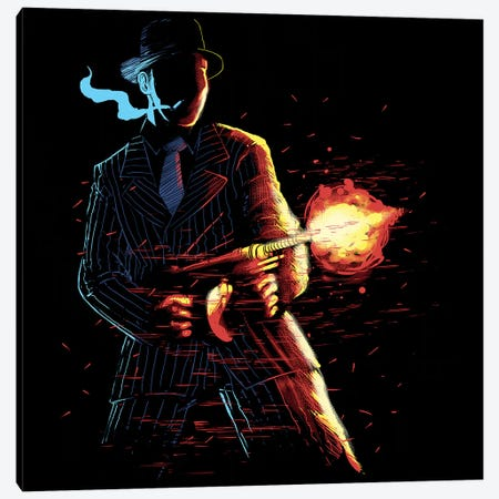 Mafioso Canvas Print #DGT29} by Digital Carbine Canvas Wall Art