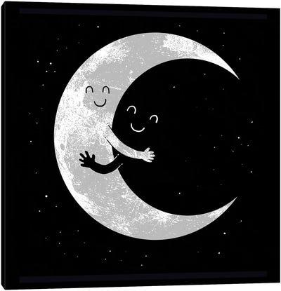 Moon Hug Canvas Art Print