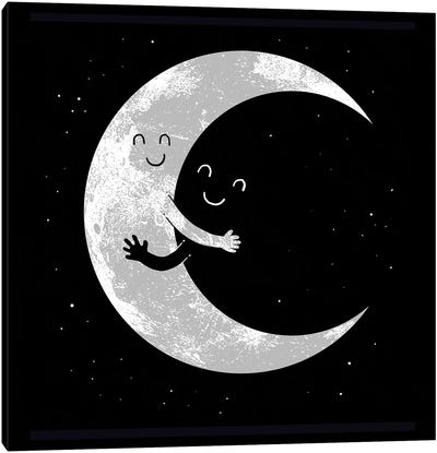 Moon Hug Canvas Art Print