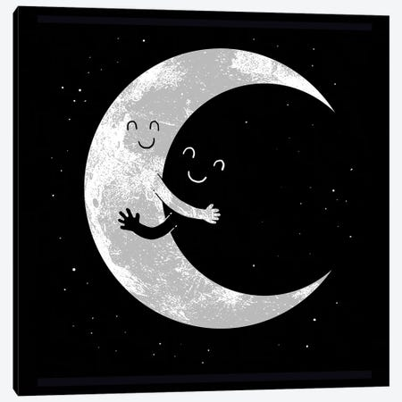 Moon Hug Canvas Print #DGT32} by Digital Carbine Canvas Print