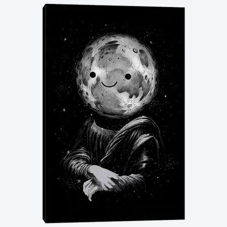 Moon Lisa Canvas Print #DGT33} by Digital Carbine Canvas Print
