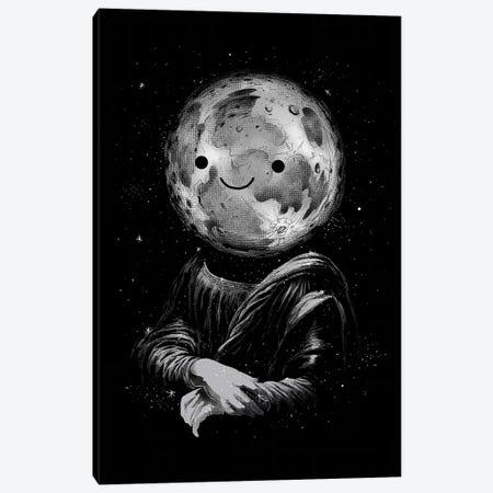 Moon Lisa Canvas Print #DGT33} by Digital Carbine Canvas Print