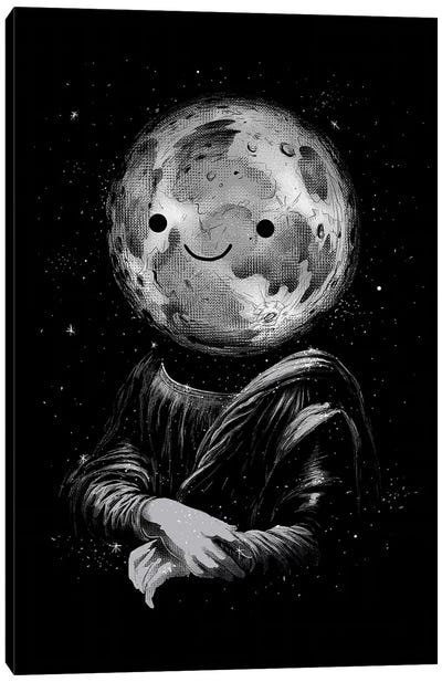 Moon Lisa Canvas Art Print