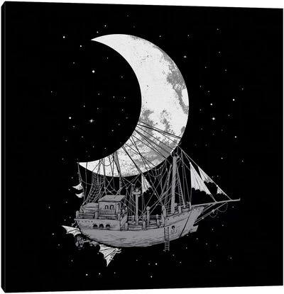 Moon Ship Canvas Art Print