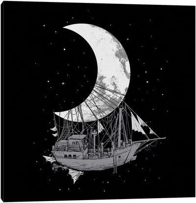 Moon Ship Canvas Art Print