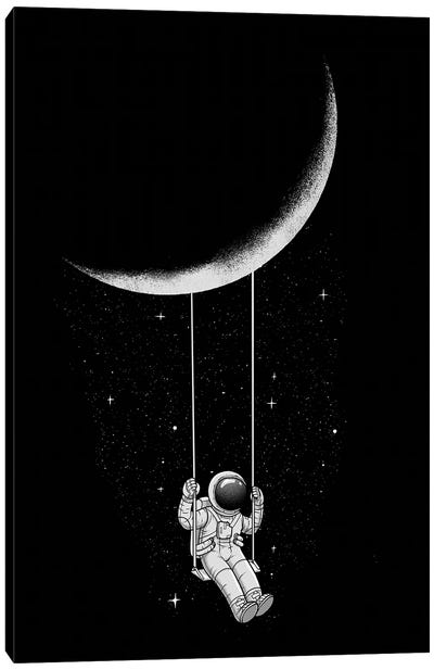 Moon Swing Canvas Art Print