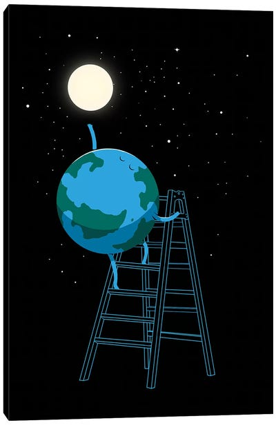 Reach The Moon Canvas Art Print