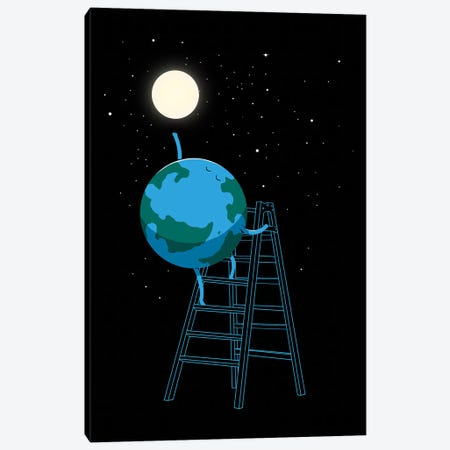 Reach The Moon Canvas Print #DGT38} by Digital Carbine Art Print