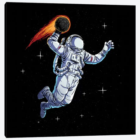 Space Dunk Canvas Print #DGT41} by Digital Carbine Canvas Artwork