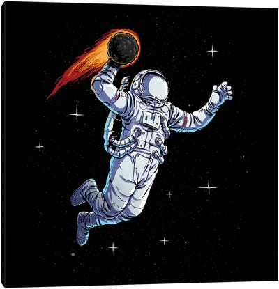 Space Dunk Canvas Art Print