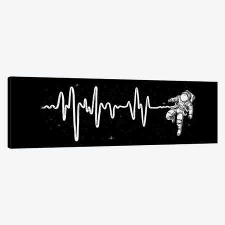 Space Heartbeat Canvas Print #DGT43} by Digital Carbine Canvas Artwork