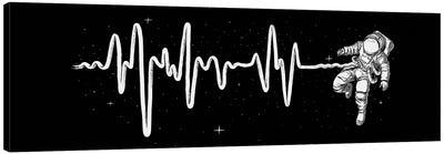 Space Heartbeat Canvas Art Print