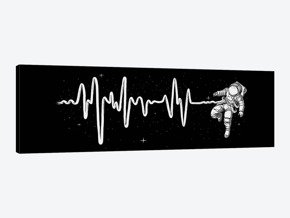Space Heartbeat by Digital Carbine 1-piece Canvas Wall Art