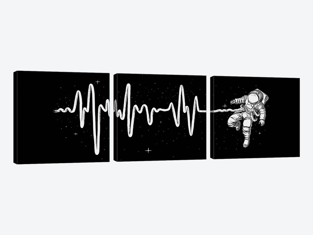 Space Heartbeat by Digital Carbine 3-piece Canvas Artwork