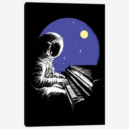 Space Music Canvas Print #DGT44} by Digital Carbine Canvas Art Print