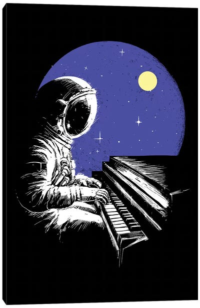 Space Music Canvas Art Print