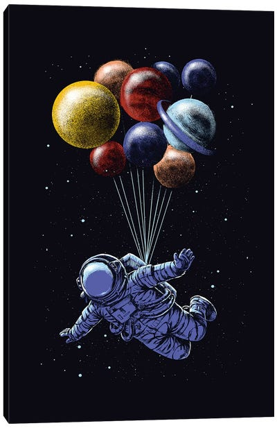 Space Travel Canvas Art Print