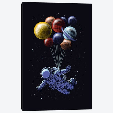 Space Travel Canvas Print #DGT45} by Digital Carbine Canvas Art Print