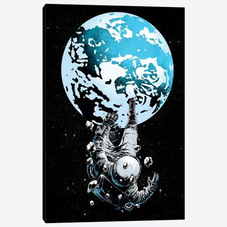 The Lost Astronaut Canvas Print #DGT47} by Digital Carbine Canvas Print
