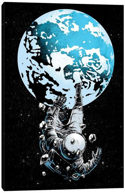 The Lost Astronaut Canvas Art Print