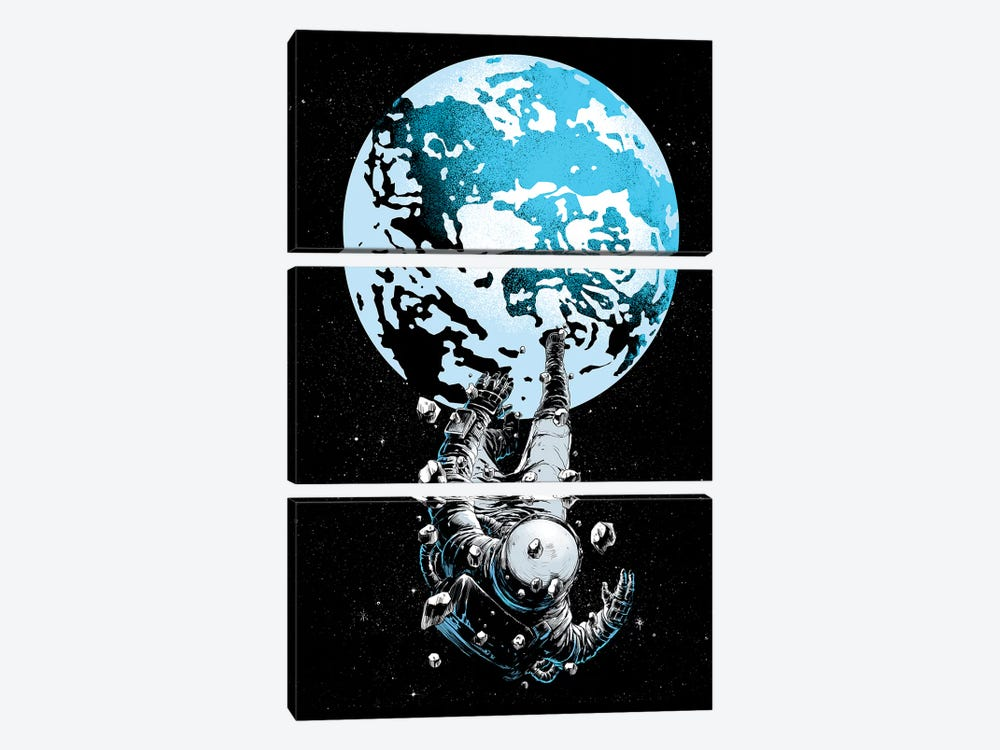 The Lost Astronaut by Digital Carbine 3-piece Canvas Wall Art