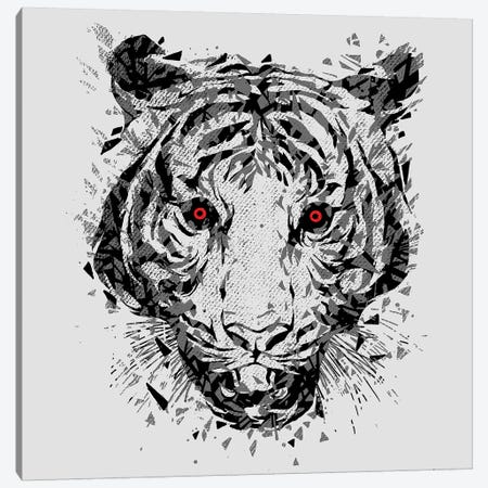Wild Eyes Canvas Print #DGT49} by Digital Carbine Canvas Wall Art