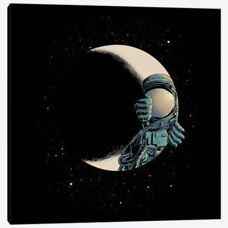 Crescent Moon Canvas Print #DGT9} by Digital Carbine Canvas Artwork