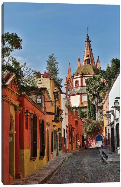 San Miguel De Allende, Mexico. Ornate Parroquia de San Miguel Archangel. Canvas Art Print